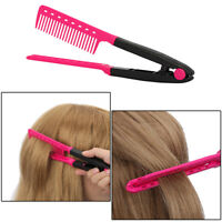 New Hair Straightener Hair Dress Styling V Shape Comb DIY Salon Hairdressing US