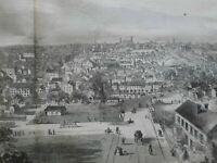 Richmond Virginia Confederate Capital City 1862 large Civil War Era Print