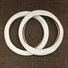 BICYCLE TIRES 18 x 1.75 WHITE FIT MANY KIDS BIKES NEW SET 18 INCH BMX