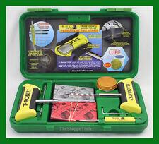 "BlackJack Passenger Tire Repair Kit T-Bone Handles 20 4"" Plugs Green Case KT-330"