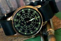 Raketa Aviator Mens Mechanical Watch Sturmanskie Pilot Military Watch /Serviced
