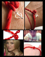 Red String of Faith Protection Satyaloka Azeztulite Mini Heart Kabbalah Bracelet