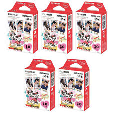5 Packs 50 Photos Mickey and Friends FujiFilm Fuji Instax Mini Film Polaroid 7S