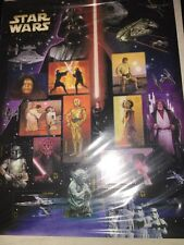 Star Wars Stamps 15 Sealed New Stamps 2007 Anniversary Stamps 1 Sheet Special