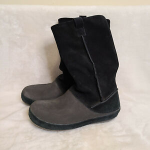 Crocs Womens Berryessa Boots Mid Calf Black Leather W Size 9