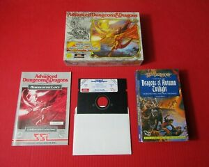 Advanced Dungeons & Dragons Heroes Of The Lance Commodore 64 - 128 Disk Game
