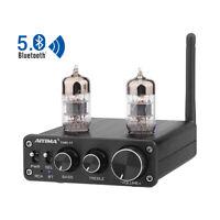 HiFi Stereo 6N3 Tube Amplifier Preamp Bluetooth 5.0 Preamplifier Treble BassTone