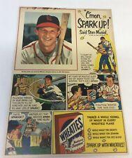 Fanartikel 1947 Wheaties Cartoon Ad Seite ~ Enos Slaughter St Louis Cardinals