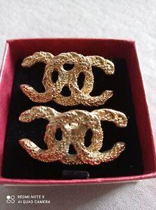 Paire De Boucles De Chaussures Chanel Incomplet