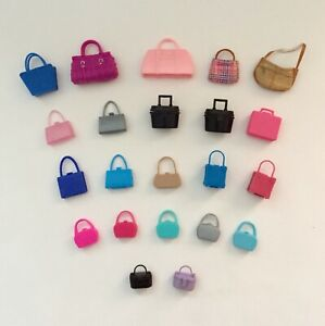 Vintage Lot Barbie Skipper Doll Purses bags suitcases styles from 50s thru 80s