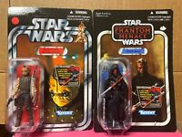 Star Wars The Phantom Menace Darth Maul & Bom Vimdin Unpunched NEW Kenner