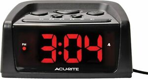 "Self Setting Alarm Clock AcuRite Intelli-Time Automatic Time Set 5.4"" 13019W2"