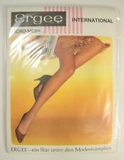 Vintage Ergee International Micro Mesh 997 10 Melone Stockings Austrian