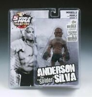 """Anderson The """"Spider"""" Silva UFC action figure NIB Round 5 MMA Ultimate Fighting"""