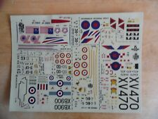 MODELDECAL  37  KIT  DECALS    1/72 scale    F-111, MIRAGE III, SABRE 1, CM170 M