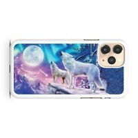Elegant Full Moon Majestic Howling Wolf Animals Cool Scenery Phone Case Cover