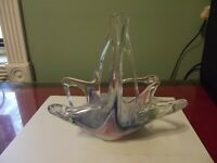 Vintage Estate Sale Murano Art Glass Basket Bowl Italy