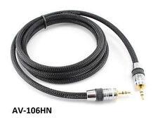 """6ft Premium Pro 3.5mm (1/8"""") Stereo Audio Male/Male Net Sleeve Cable, AV-106HN"""