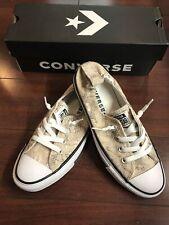 Converse CTAS Shoreline Slip On Shoe Women's 8 Pale Putty Grey Snake Print New
