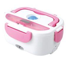 Elektrische Lunch Box Thermo Heizung Essenwärmer Isolierbehälter 1,5 L rosa/weiß