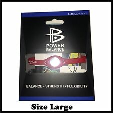 1 x New Power Balance Silicone Wristband Size Large 20.5cm Red/White in box
