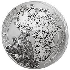 Ruanda - 50 Francs 2019 - Schuhschnabel - African Ounce (12.) - 1 Oz Silber ST