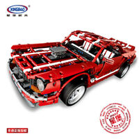 Xingbao Spielzeug Ostern Rot Sportwagen Auto Modell Gift Bausteine Toys 2000PCS