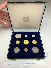 More details for 1972 mixed jersey gold & silver wedding proof set - 9 coins, lot #1