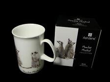 1 x Fine Bone China 7oz Mug Cup Ashdene Meerkat Mischief Family
