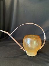 Vintage Blown Glass & Copper Watering Can for Garden Plants