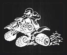 aufkleber sticker auto motorrad macbook laptop quad  ATV weiß