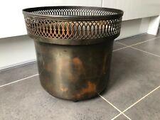 Antique Brass Coal Wood Holder Bucket Bin