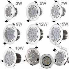 3W 5W 7W 9W 12W 15W 18W LED Dimmable Recessed Ceiling Down Light Lamp 85-265V