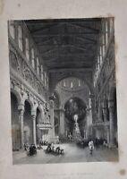 1839 Mediterráneo Estampado The Catedral At Messina Sicilia