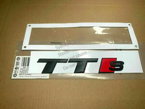OEM Genuine Style Matte Black TTS Rear Boot Trunk Badge Sticker for Audi TT S