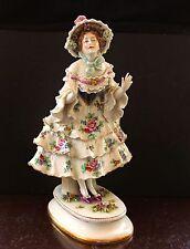 Rudolstadt Volkstedt Frau Antike Schöne Porzellan Figur 34cm Sammlerstück selten