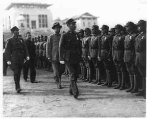 General Chiang inspecting cadets of the Officers' Training Corps in Hankow 9389