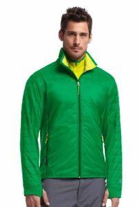 Size XL- Icebreaker Men's Helix Long Sleeve Zip, Lucky/Chartreuse/Bottle X-Large
