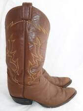 TONY LAMA 6284 USED BROWN MEN'S 10 D LEATHER KNEE HIGH RIDING COWBOY BOOTS/SHOES