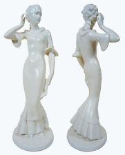VINTAGE German ART DECO FEMALE FIGURINE 1930's Porcelain Pottery PRICE REDUCED!