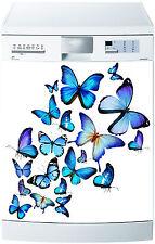 Adesivo lavastoviglie decocrazione cucina elettrodomestici farfalla blu 718