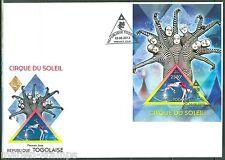 Togo 2013 Cirque Du Soleil Souvenir Sheet First Day Cover