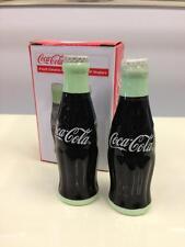 Coca Cola Mini Ceramic Contour Bottle Salt and Pepper Shakers