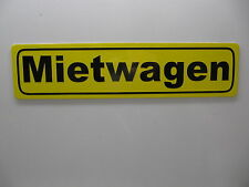 Magnetschild  Mietwagen, Taxi
