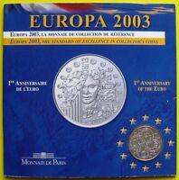 0.25 Euro 2003 Moneta in Argento 1° Anniversario dell'Euro - Le Monnaie de Paris