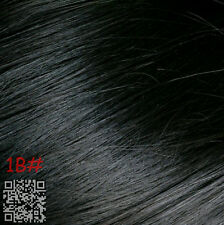 """Full Head Set 14""""-30"""" Clip in Remy Human Hair Extensions Black Blonde Brown Red"""