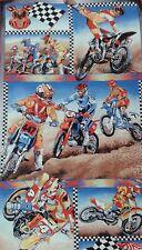 Motorcross Panel  NEW Fabric  - 100% Cotton - Adult/ Kids Novelty