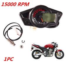 1x 15000rpm Universal LCD Digit Motorcycle Speedometer Tachometer Odometer Gauge