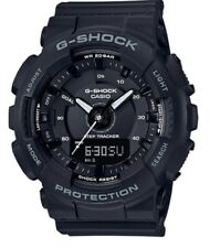 Casio G-Shock S Series * GMAS130-1A Step Tracker Black Resin Watch for Women