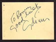 ADRIAN Greenburg (d.59) Autographed Album Page Costume Designer Wizard of Oz BAS